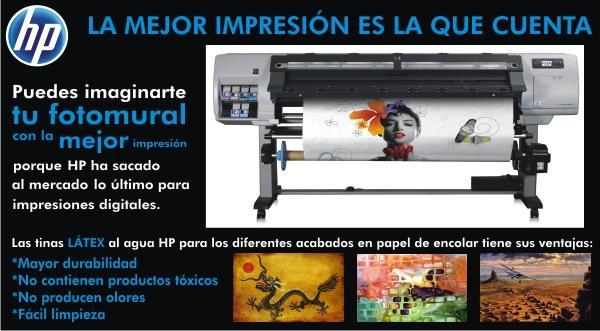Impresión de calidad HP Látex para fotomurales